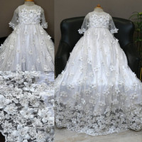 Luxury 2020 Beading Christening Gowns For Baby Girls Lace Ap...