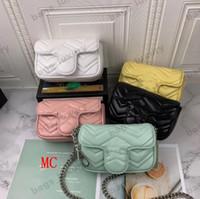 Adatti a donne i sacchetti di spalla in pelle Ondulazione Evening Bag classica catena di stile del cuore dell'oro delle donne superiori borsa della ragazza borsa con la scatola