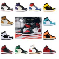 1 1s High Mens Scarpe Da Basket Banned Bred Toe Shadow Gold Top Migliore Qualità Designer Mens Athletics Sneakers Sneakers 40-45
