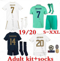 19 20 real madrid adult kit Soccer jerseys 2019 2020 hazard ...