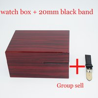 Luxury Lacquer Wood Box Watch+ 20mm Watch Band Gift for Brand...