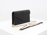 bolsas de luxo MONOGRAMA mulheres de designer bolsa genuíno sacos de ombro de couro cadeia longa de couro caviar saco envelope de alta qualidade saco de embreagem