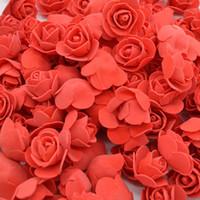 10 الكثير 500 قطعة / الكثير الزهور الاصطناعية زهرة تحمل رغوة ليتل الاكسسوارات دب الورود استخدام احتفال رأس زفاف لردة تحمل 3.5 سم