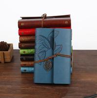 Livros Retro Design De Couro cadernos diários pessoais Agenda Kraft Paper Sketchbook New Fashion Handmade Travel Notebook Lxl385-A