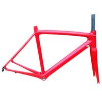 2018 Yeni Model UD Tam Karbon Yol Bisikleti Çerçeveleri, T1000 Yarış Bisiklet Karbon Framesets, Bisiklet Yol Bisikleti Çerçeveleri Çatal ile, istiridye
