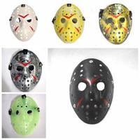 Retro Jason Maske Bronze Halloween Cosplay Maskerade Masken Horror Lustige Vollgesichtsmaske Hockey-Party Ostern Festival Supplie LXL236-A