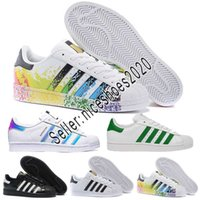 2019 Adidas Men Women shoes Superstars Negro Blanco Oro Holograma Superestrellas Junior 80s Pride Sneakers Super Star Barato Mujer Hombre Zapatillas