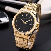 Men's luxury watch classic business quartz watch 3AT world time alloy watchband mineral reinforced glass mirror
