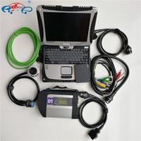 Kompakt Teşhis Aracı Için Yüksek MB Yıldız C4 Bağlayın WiFi SD V06.2021 Soft-Ware SSD ve Laptop CF19 Kablo Kod Tarayıcı