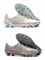 2021 Soccer Shoes Quality Mens Morelia Neo II FG Cleaves de couro Botas de futebol Scarpe da Calcio Branco