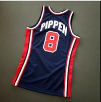 Özel Erkekler Gençlik kadınlar Vintage Scottie Pippen Mitchell Ness 92 ABD Kolej Basketbol Forması Boyut veya özel herhangi bir ad veya numara formayı-4XL S