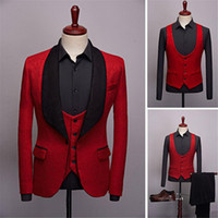 Slim Fit 3 Pieces Mens Suits 2020 New Wedding Groom Tuxedos ...