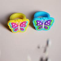 Кольцо с бабочкой Изысканные детские портативные легкие кольца Горячие продажи в Европе и Америке с более низкой ценой 0 4tz J1