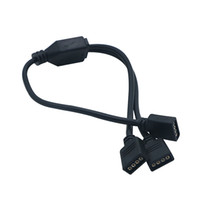 EDISON2011 4PIN RGB 커넥터 1 ~ 2 3 4 분배기 RGB LED 스트립 용 SMD 5050 2835 3528 용 4 개의 스플리터 여성 확장 와이어 케이블