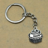 Muffin Cupcake Schlüsselanhänger Anhänger Silber aus Metall
