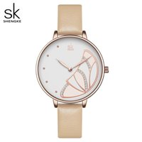 Shengke New Women Donne Luxury Brand Guarda Semplice Quartz Lady Waterproof Wristwatch Femmina Fashion Casual Watches Orologio Reloj Mujer