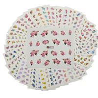 48 Feuilles Mixtes Mignon Fleurs Motif Style Nail Paper Astuce Art Décorations Set Manucure Diy Filigrane Tatouages A001-048