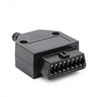 alta qualità 2020 16Pin Automotive OBD2 OBDII Connettore femmina 70 millimetri Auto OBD test diagnostico Plug