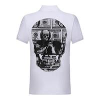 T-shirt da uomo in t-shirt da uomo a maniche corte in cotone da uomo a maniche corte in cotone da uomo in cotone Pollo Phillip Plain Spedizione gratuita designer # 6889