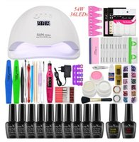 Nail kit 54w UV LED Lamp Dryer With 12pcs Nail Gel Polish Kit Soak Off Manicure Tool Set Gel Polish electlic drill