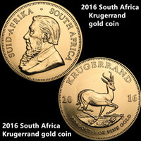 Freies Verschiffen 10pcs / lot, 2016 Südafrika Krügerrand Goldmünze Gold 24K Proof Goldmünze Ohne