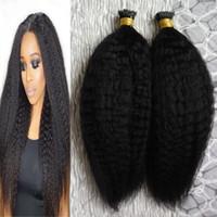 Yaki grossier je pointe des extensions de cheveux humains 200g / brins des extensions de cheveux de kératine