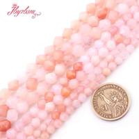 """6 8 10 mm Tallado rosa Aventurina Cuentas Cuentas de piedra natural para las pulseras del regalo DIY joyería que hace el filamento flojo 15"""" envío gratuito"""
