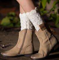 Короткие Женщины крючком хлопка ботинка Манжеты девушки зимние вязать гетры Сапоги носки 8 цветов новый ARRIVEL