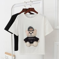 T-shirt donna 2018 New Harajuku T Shirt Donna Cartoon Orso Bottoming Shirt Plus Size Xl-2xl-3xl Y190501301