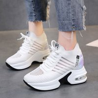 Vulcanized shoes Platform Wedges Women' s Sneakers Sprin...