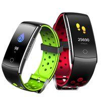Q8S bracelete inteligente Frequência Cardíaca Monitor de pressão sanguínea sistema de controlo de oxigénio desporto relógio aparelho de controlo de aptidão relógio De Pulso À Prova de água para Android IOS