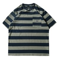 2019 new Japanese navy style rough striped sea soul shirt T-...
