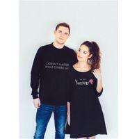 Uzun Kollu Hoodie Kazak Elbise Jumper Kazak Üst Siyah Eşleştirme Harf Baskılı Çift Aşıklar