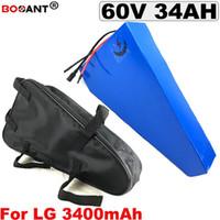 60 V 34Ah Triângulo ebike bateria de lítio de lítio de LG ILE 18650 clulas 10 16 S P 60 V Elétrica bicicleta