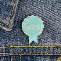 Peggiore nel mondo dello spettacolo divertente premio smalto perni del risvolto Button accessorio dei monili lettere spiedo inglese Pin Badge