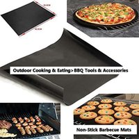 HOT شواء حصيرة دائم غير عصا شوى حصيرة 40 * 33CM صفائح الطبخ فرن الميكروويف في الهواء الطلق BBQ الطبخ أداة