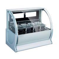 220В изогнутое стекло дисплея мороженного шкафа запотевания функция ледяная каша мороженое витрина