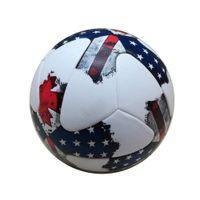 Top qualidade Oficial Tamanho 5 Bola de Futebol PU Grânulo Slip-resistente Sem Costura Jogo de Treinamento de Bolas de Futebol Equipamento frete grátis