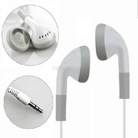 Basic In-Ear Earbuds Headphones 3.5mm Stereo Simple Design White earphones 1000pcs up cheap price free shipping