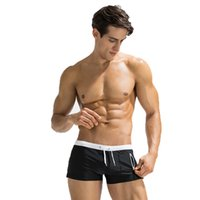 00ef3c4cc80 2019 Nice Fitting Trunks Mens Swim Trunks Short Square Leg Cut Swimming  Briefs Swimwear With Front Zipper Pocket From E51m, $10.77 | DHgate.Com