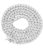 4 мм 1 рядные реальные 925 серебряные смешивание цепь тенниса ожерелье против туристов