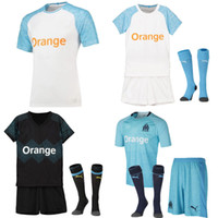 Olympique De Marseille Kids Soccer Jersey Top Quality Sports...