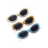 Cute Unisex Flower Oval Sunglasses Fashion Hip Hop Printed F...