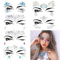 Temporary Rhinestone Glitter Tattoo Stickers Face Jewels Gems Music Festival Party Makeup Body Jewels Flash Face Crystal Sticker