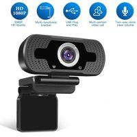 كامل HD WECAM USB كاميرا ويب للكمبيوتر PC 2.0MPX 1080P ويب كام مدمج ضوضاء إلغاء ميكروفون فيديو الاتصال تسجيل W8