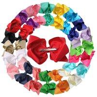 24 цвет 8 дюймы Симпатичного Barrettes Grosgrain лента бигуди с зажимом Зажимов младенца девушки волосы модных аксессуаров для волос Boutique Kids