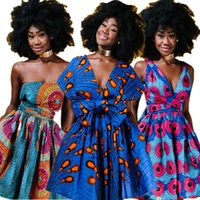 2019News Floral National Print African Dresses for Women Eve...