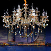 New Luxury led crystal Chandelier K9 large crystal chandelie...