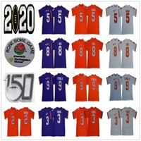 NCAA Clemson Tigers 8 Justyn Ross 9 Travis Etienne Jr. Sammy Watkins Tee Higgins Xavier Thomas Trevor Lawrence 150th College Football Jersey