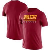 Iowa State Cyclones Línea de banda leyenda Rendimiento camisetas de manga corta impresa O-Cuello T Escuela de Fútbol Los deportes de equipo camisetas